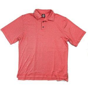 FootJoy Men Red Striped Spandex Sz L Polyester Gol